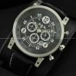 日本製クオーツ 6針 BRM ビーアールエム メンズ腕時計 サファイヤクリスタル風防 日付表示