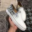 数量限定低価Christian Louboutinクリスチャンルブタン 靴紐なしローカットスリッポンスニーカーカジュアル革靴
