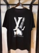 ルイ ヴィトン コピーLOUIS VUITTONカジュアルtシャツ半袖個性アメカジ白黒夏服2色可選2018数量限定大得価