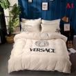 ヴェルサーチ コピーVERSACE寝具セットダブルサイズシーツ掛け布団カバー寝具 シンプルベッドシーツのセットロゴデザイン