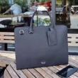 PRADAプラダ バッグ コピーシルバー金具のメンズレザーハンドバッグかっこよく上品で高級感抜群なアイテム