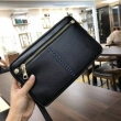 VERSACEヴェルサーチ コピークラシックなクラッチバッグ黒いカーフレザーポーチジッパーポケット便利なメンズバッグ