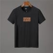 FENDIフェンディ コピークルーネックFFロゴメンズTシャツやわらかいブラックとホワイトのコットンジャージー