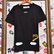 オフホワイトoff white tシャツ コピー人気ブランドメンズ丸首半袖優秀トップス3カラーブラックホワイトオレンジ
