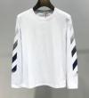 今年のトレンドカラー Off-White オフホワイト 長袖Tシャツ 2色可選 2019年春の新作コレクション