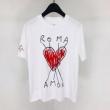 フェンディ FENDI メンズ tシャツ コピー シンプルなコーデにオススメ Roma Amor ブラック ホワイト プリント ストリート 最安値
