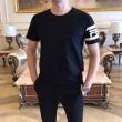 スーパー ブランド コピー_フェンディ tシャツ コピー 春夏に着こなしやすい人気新品 メンズ FENDI ブラック ホワイト ロゴ 通気性抜群 お手頃な価格