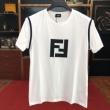 フェンディ tシャツ 新作 暑い夏に大活躍 FENDI メンズ コピー ブラック ホワイト 通気性抜群 ストリート コーデ 最安値
