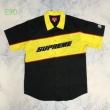 2019秋の色が増えてきたアイテム 2色可選 Tシャツ/半袖 秋冬のシンプルコーデ Supreme color blocked work shirt 19AW logo