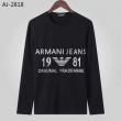長袖Tシャツ 2色可選 2019秋冬の新作 秋冬の上手に楽しめるコーデ アルマーニ ARMANI