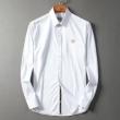 シャツ メンズ HERMES 軽快で爽やかな雰囲気を醸し出すモデル エルメス コピー ホワイト ブルー ストリート 日常 安価