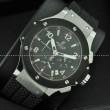 Hublotウブロ メンズ腕時計 日本製クオーツVK クロノグラフ 日付表示 サファイヤクリスタル風防 ラバー